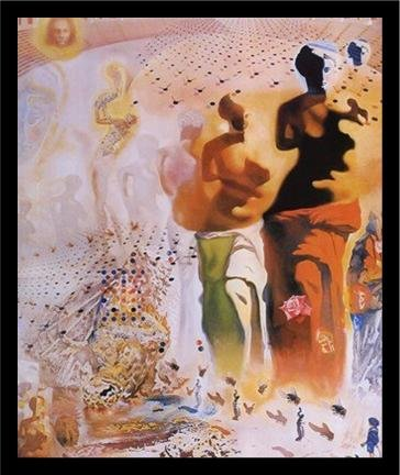 FRAMED Hallucinogenic Toreador by Salvador Dali 17x14 Art Print Poster Famous Painting Surrealism