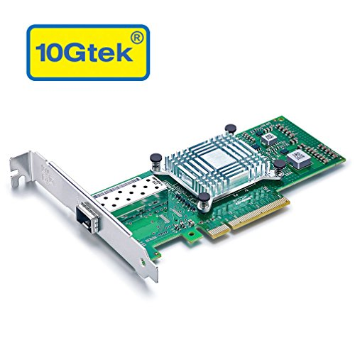 10Gtek Intel E10G41BTDAG1P5 82599ES Chipset 10Gb Ethernet Converged Network Adapter (NIC), Single SFP+ Port, PCI Express 2.0 X8, Same as X520-DA1/X520-SR1