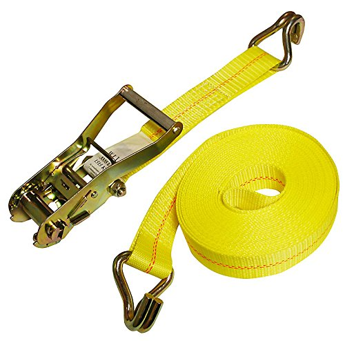 American Industrial / 2'' X 30' Ratchet Strap W/ Long Wide Handle & Wire Hook / 3,335 Lbs. Load Capacity