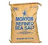 Morton Refined Sea Salt, Bulk 50 Lb. Case