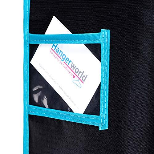 HANGERWORLD 5 Wasserabweisende Kleidersäcke 102 x 61 cm aus Polyester Polyester Polyester in Schwarz mit Grünem Saum B07JZJ1L2S Kleiderscke 58c4df