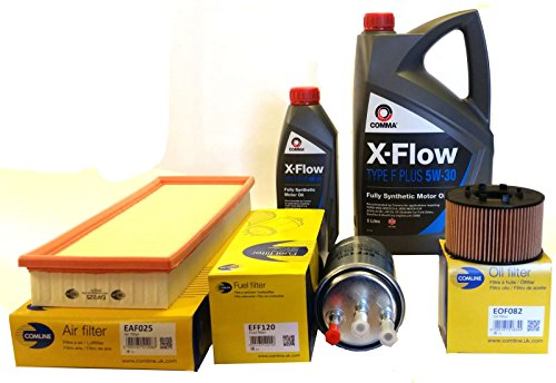 XtremeAuto® Oil Air Fuel Filters + 6Ltrs 5w30 Comma Oil Complete XtremeAuto Sticker: