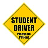 "Zone Tech Student Driver Please Be Patient 5"" X 5"" MAGNET - Safety Caution Sign (1)"