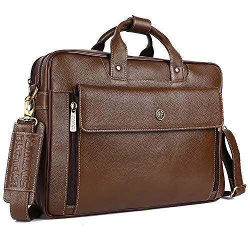 Hammonds Flycatcher Men Leather Expandable Laptop Messenger Bag LB150MH