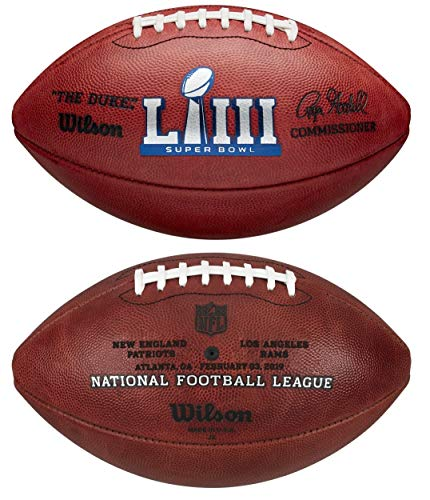 (Wilson NFL Super Bowl LIII (53) Official Football New England Patriots vs Los Angeles Rams)