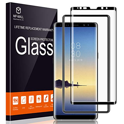 MP-MALL Screen Protector for Samsung Galaxy Note 8, Tempered Glass [Full Cover] [Alignment Frame Easy Installation] with Lifetime Replacement ()