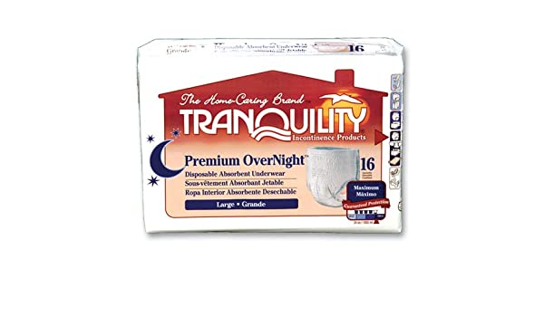 Amazon.com: Tranquility OverNight Underwear - Large 64/cs: Health & Personal Care