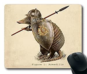 "Armadillo Durable Rubber Customized Mousepad Rectangle Mouse Pad 220mm*180mm*3mm (9""*7"") -WS82259 by icecream design"