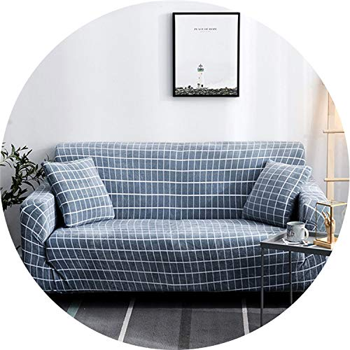 (Little-Kiwi Plush Thicken Sofa Cover Sofa Slipcover Universal Sectional Couch Corner Cover Cases for Living Room 1/2/3/4 Seater,Color 5,4-Seat 235-300cm)