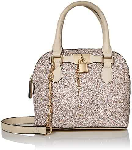 Aldo Women's Dome Bag with Pad Lock Detail, Barland in Champagne