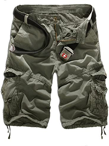 メンズ カーゴパンツ ワークパンツ ショートパンツ 短パン ハーフパンツン ショーツ スリム 無地 五分丈 ボトムス カジュアル 半ズボン コーデ ファッション 機能性が高い ポケット付き 夏 ベルトなし