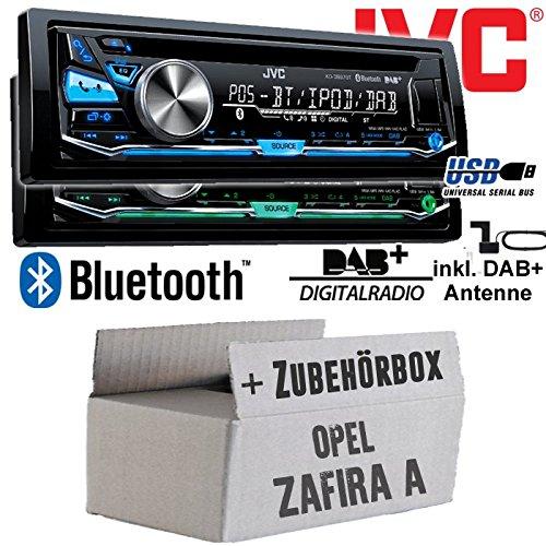 Opel Zafira A - JVC KD-DB97BT - DAB+ Digitalradio   Bluetooth   USB   Autoradio inkl. DAB+ Antenne - Einbauset JUST SOUND best choice for caraudio