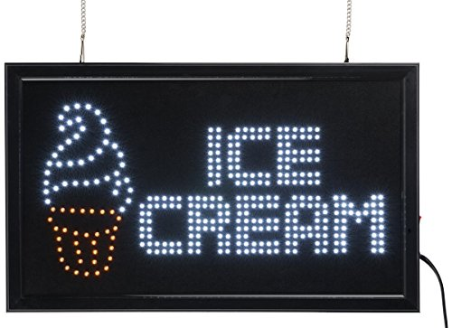 Displays2go LED Flashing Sign Boards Reading ICE CREAM wi...