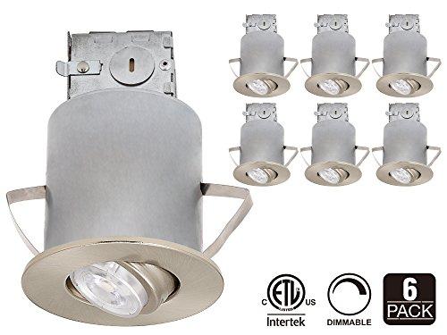 Recessed lighting kit 3 inch etl listed air tight ic housing recessed lighting kit 3 inch etl listed air tight ic housing satin nickel swivel trim aloadofball Gallery