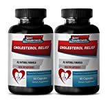 Natural cholesterol reducers - CHOLESTEROL RELIEF - Reduce blood pressure naturally - 2 Bottles 120 Capsules