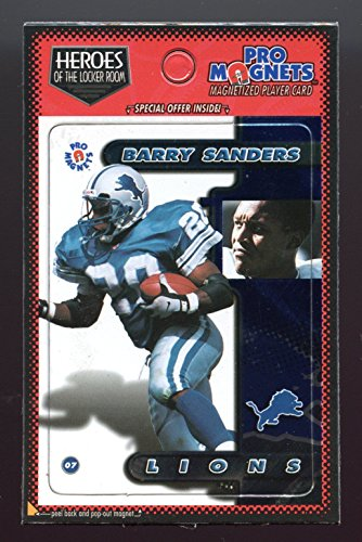 1998-Crown-Pro-Heroes-of-the-Locker-Room-Barry-Sanders-Lions-Refrigerator-Magnet