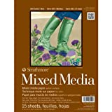 Strathmore STR-462-109 15 Sheet No.140 Mixed Media Pad, 9 by 12