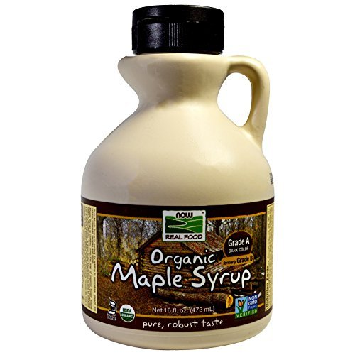 NOW Foods Organic Maple Syrup Grade A Dark Color Formerly Grade B