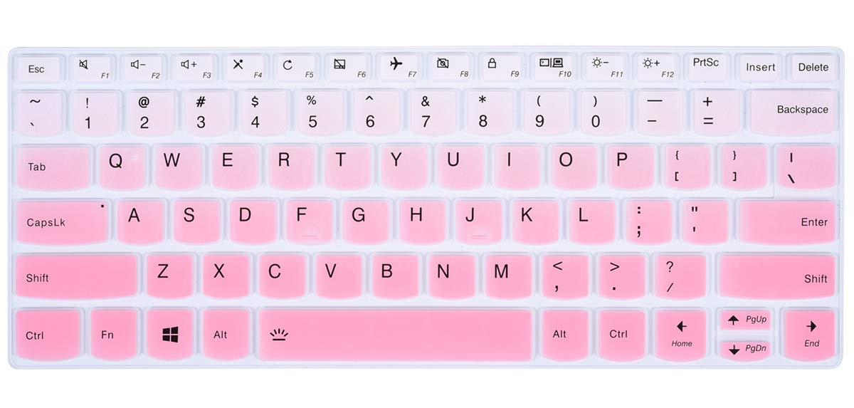 Ombre Pink Keyboard Cover Protector Compatible Lenovo Yoga 730//720 13.3 inch//Lenovo Yoga 720 12.5 inch//Lenovo Yoga 920 C930 13.9 inch Soft-Touch Protective Skin