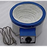 110v Heating Mantle 5000mL / 5 Liter for Round Bottom Flask 600 Watts Overall Size 14.4 inch x 7.7 inch x 11 inch and Inner Sleeve Size 9.2 inch