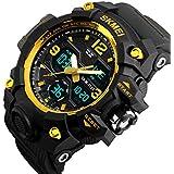 Mens Analog Digital Watch - LED 50M Waterproof...
