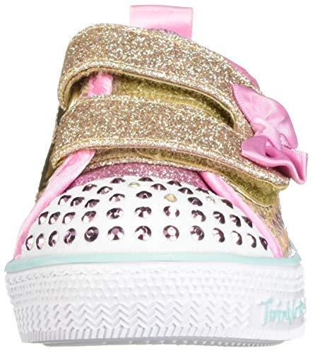 Skechers Kids Girls' Shuffle Lite-Mini Mermaid Sneaker, Gold, 10.5 Medium US Little Kid by Skechers (Image #4)