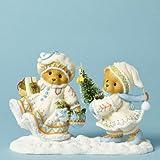 Cherished Teddies Anna and Carl Carrying Tree Laplander Bear Christmas Figurine