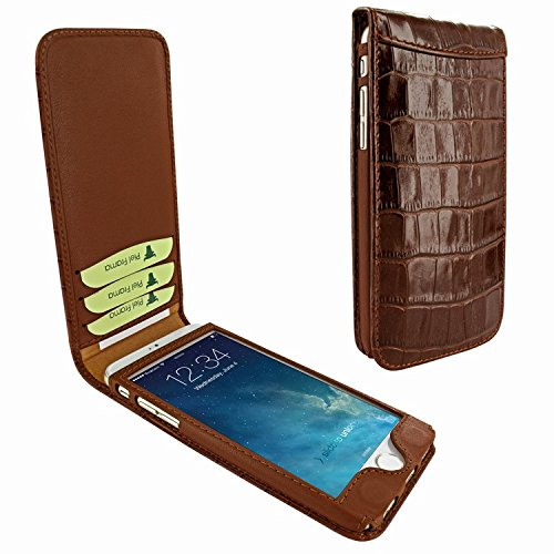 Piel Frama 682 Brown Crocodile Magnetic Leather Case for Apple iPhone 6 / 6S
