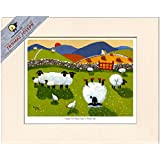 Time To Put Ewe-r Feet Up Mounted Print by Thomas Joseph - Sheep Art by Thomas Joseph