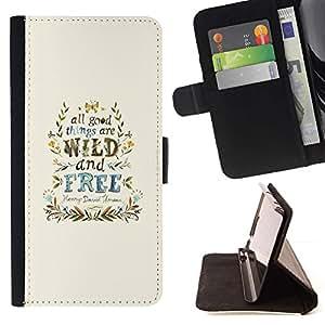Momo Phone Case / Flip Funda de Cuero Case Cover - Viento Libre Good Things guirnalda azul - HTC Desire 820