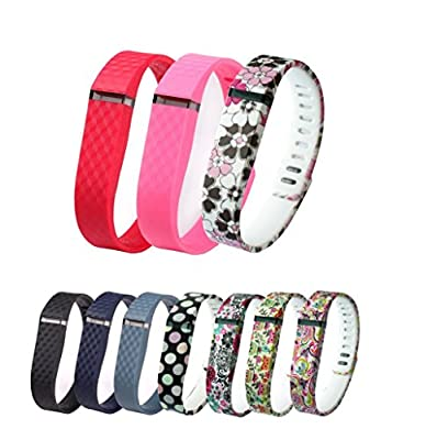 GreenInsync Replacement Bands for Fitbit FLEX With Special Clasps