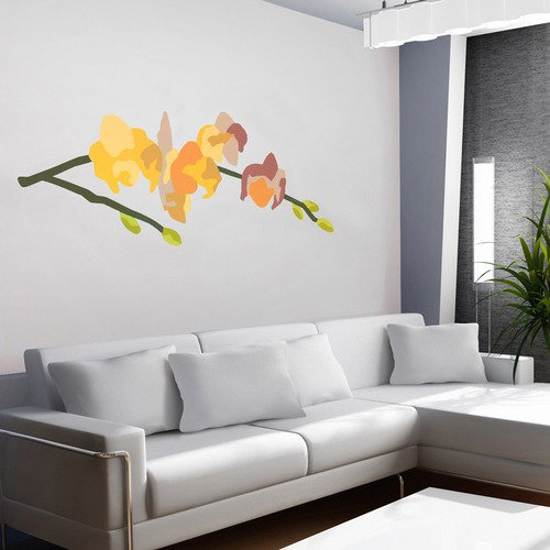 Culture Wall Decals Orchid Arrangement Series No.71 Yellow by Andy Anh Ha 54 by 45-Inch GreenBox Art