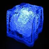Set of 10 LiteCubes Brand 3 Mode BLUE Light up LED Ice Cubes