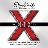 Dean Markley Helix X NPS Bass Guitar Strings, 45-105, 2611, Medium Light