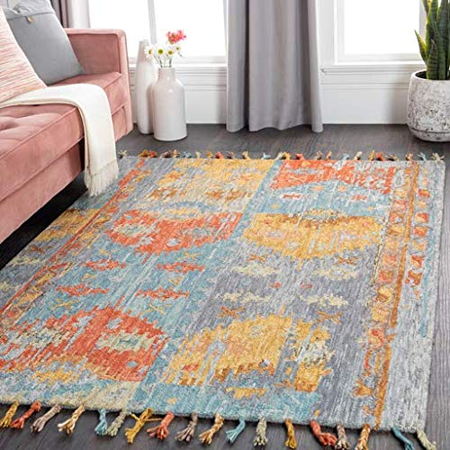 Lambertville Updated Bohemian Farmhouse 2' x 3' Rectangle Bohemian/Global 100% Wool Rust/Medium Gray/Teal/Mustard/Tan/Camel Area Rug
