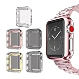 for Apple Watch 3 Case 42mm Screen Protector, SIRUIBO Soft Plated TPU Slim All-around Protective Bumper Cover for Apple iWatch Series 3 Series 2 Series 1 Edition Sport (5 Pack)