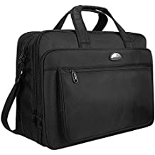 Laptop Bag, 18 Inch Laptop Briefcase, Travel Messenger Bag with Organizer, Expandable Business Office Bags, Water-Repellent Shoulder Bags for Men Women Fit Up to 17 Inch Notebook