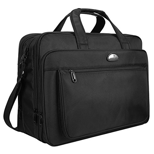 18 Inch Laptop Bag Laptop Briefcase for Men Women, Travel Briefcases with Organizer, Expandable Business Office Bags, XXL Waterproof Messenger Shoulder Bags for Fit to 17.3 Inch Notebook