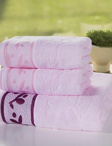toalla de-Set de Toallas de Baño - de 100% Algodón - Jacquard - towel:34*76cm bath towel:70*140cm , pink: Amazon.es: Hogar