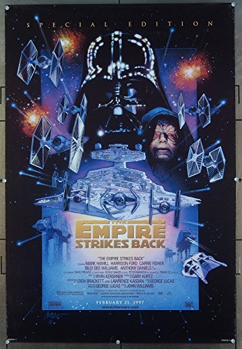 The Star Wars: Episode V – Empire Strikes Back (1980) Original Movie Poster Special Edition of 1997 HARRISON FORD MARK HAMILL CARRIE FISHER Film Directed by IRVIN KERSHNER Re-release 1997 DOUBLE SIDED DREW STRUZAN ART