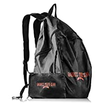 37 Liter Folding Motorcycle Backpack for Men or Women - Large opening so bikers can carry a full face helmet. Small Compact Storage Bag Straps to Bike, Belt, ATV, Bicycle Frame, Fits in luggage.