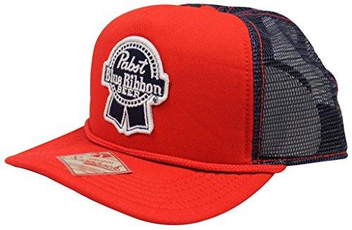 pabst-blue-ribbon-pbr-beer-red-blue-snapback-trucker-hat