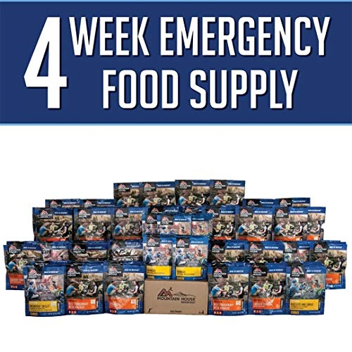 MOUNTAIN HOUSE FREEZE DRIED FOOD, 4 WEEK FOOD STORAGE KIT- Variety Pack, 200 Servings- Just Add Water Emergency Food Storage. Perfect For: Emergency Preparedness, Camping Food, Earthquake Kits, -