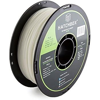 HATCHBOX PLA 3D Printer Filament, Dimensional Accuracy +/- 0.03 mm, 1 kg Spool, 1.75 mm, Glow in the Dark