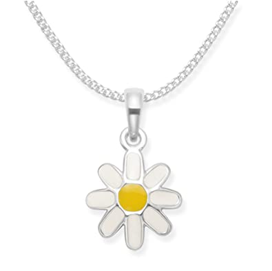 Sterling Silver Daisy Necklace (35.5cm) VaOky
