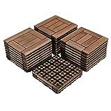 Yaheetech 27PCS Patio Pavers Tiles Interlocking