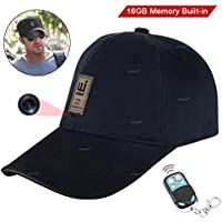 WISEUP 16GB 1920x1080P HD Hidden Camera Hat Video Recorder Support Photo Taking