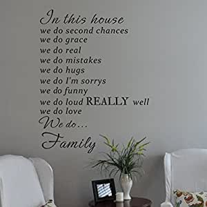 MairGwall In This House Wall Decal Sticker Art Vinyl Poster Print