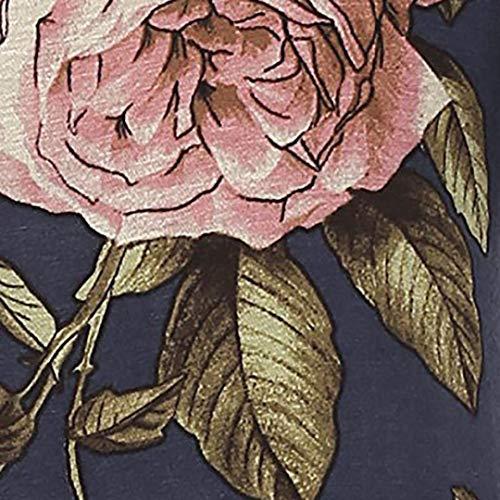 Taglie Dunkelgrau Magliette O Longshirt Moda Shirts Casual Manica Chic Fiore Estivi Tunica Collo Lunga Forti Eleganti Relaxed Corta Vintage Ragazza Donna Camicetta Modello BqfRqA5F