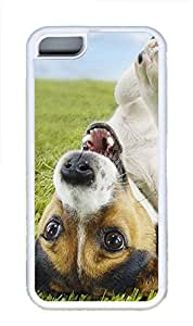 iPhone 5C Cases & Covers - Lazy Puppy Custom TPU Soft Case Cover Protector for iPhone 5C¨CWhite